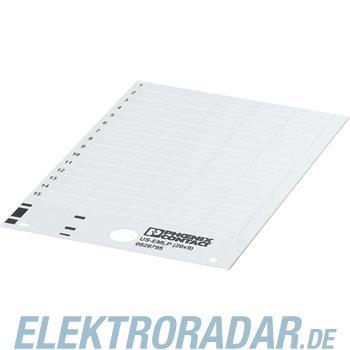 Phoenix Contact Kunststoffschild US-EMLP (52,5X15) RD