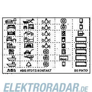 ABB Stotz S&J Kennzeichnungsschild BS Pikto