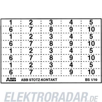 ABB Stotz S&J Kennzeichnungsschild BS 1/10