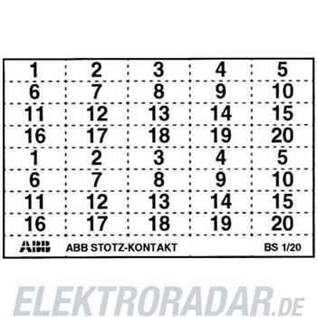 ABB Stotz S&J Kennzeichnungsschild BS 1/20
