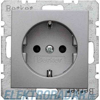 Berker Schuko-Steckd.alu matt 47431404