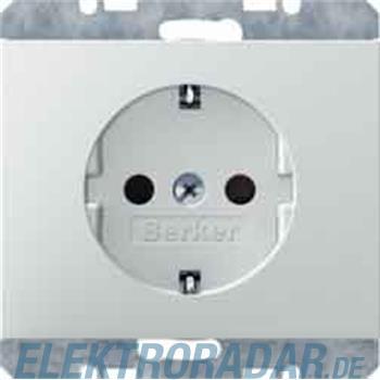 Berker SCHUKO-Steckdose pws/gl 41357009