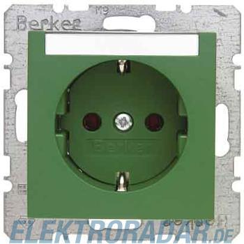 Berker SCHUKO-Steckdose gn/gl 47508903