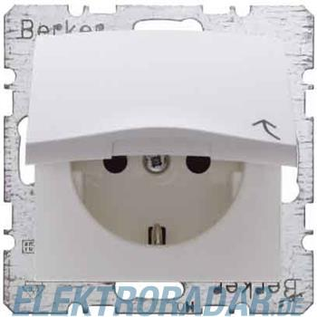Berker SCHUKO-Steckdose pws/gl 47518989