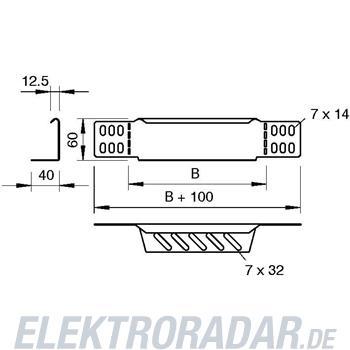 OBO Bettermann Reduzierwinkel/Endabschluß RWEB 620 VA4301