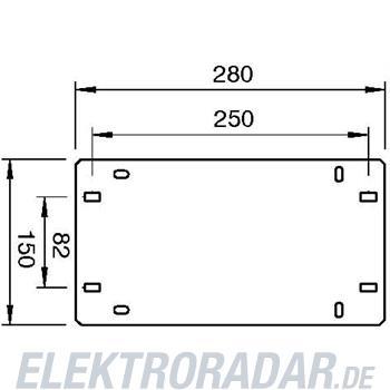 OBO Bettermann Geräteplatte GP 15 28 FT
