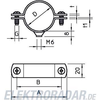 OBO Bettermann Abstandschelle mit Gewinde 2900 W 13.5 FT