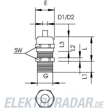 OBO Bettermann Kabelverschraubung mit lan V-TEC L PG9 MS