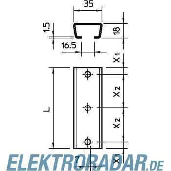 OBO Bettermann Profilschiene 2068 2x7x300 FT