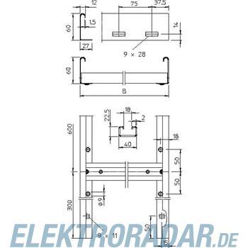 OBO Bettermann Steigeleiter mittelschwer SLL 630 CPS 4 FS