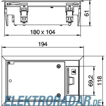 OBO Bettermann Geräteeinsatz für Doppelbo GES2 DB 7011