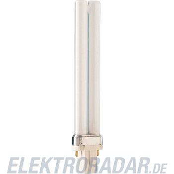 Philips Kompaktleuchtstofflampe PL-S 9W/827/2P