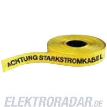 Fränkische Trassenwarnband mit Aufdru FTWB gelb 250m