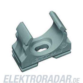 Fränkische Kunststoff-Klemmschelle clipfix-UV 20 grau