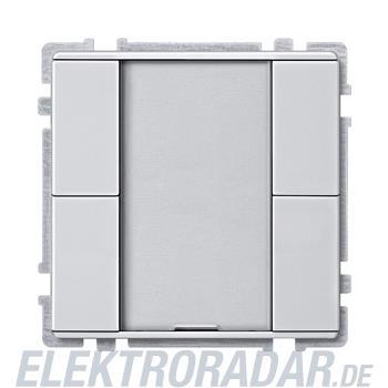 Merten Taster 2f. alu/bril 628160