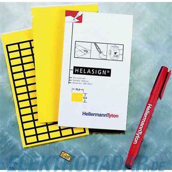 HellermannTyton Etiketten TAG125FB-270-YE