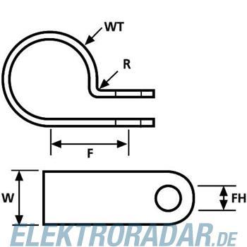 HellermannTyton Befestigungsschelle H18P-N66-NA-G1