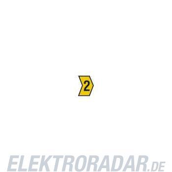 HellermannTyton Kennzeichnungstülle HG2-5-2-PVC-YE-M4