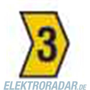 HellermannTyton Kennzeichnungstülle HG2-5-3-PVC-YE-M4