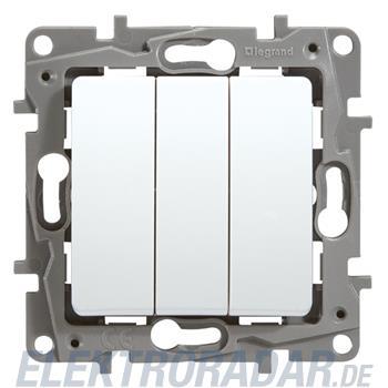 Legrand 664503 Niloe 3-fach Schalter Schließer 10A mit Schraubkle