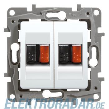 Legrand 664781 Niloe Lautsprecherauslass 2-fach mit Schraubklemme