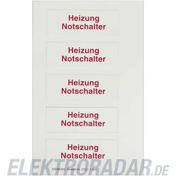 Siemens Piktogrammbogen f.Wippe 5TG1138