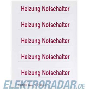Siemens Schild, Heiz.-Notschalter 5TG1894