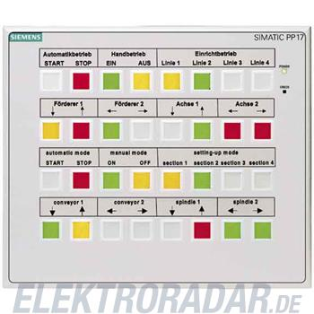 Siemens Push Button Panel PP17 II 6AV3688-3ED13-0AX0