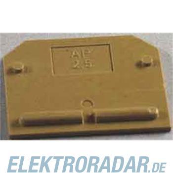 Weidmüller Abschlußplatte AP SAK2.5 KRG