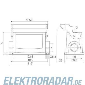 Weidmüller Steckverbinder-Gehäuse HDC 16B SLU 1M25G