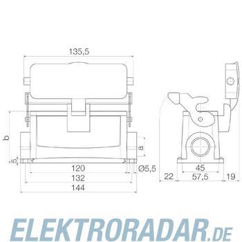 Weidmüller Steckverbinder-Gehäuse HDC 24B SDLU 1M25G