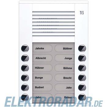 TCS Tür Control Audioaußenstation 2-reihig PES12-WS/04