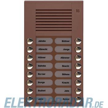 TCS Tür Control Audioaußenstation 2-reihig PES16-EB/04