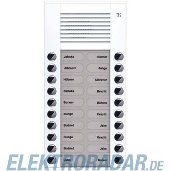 TCS Tür Control Audioaußenstation 2-reihig PES20-WS/04