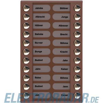 TCS Tür Control Audioaußenstation 2-reihig PET22-EB/04