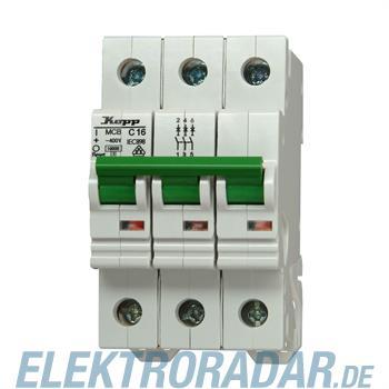 Kopp Leitungsschutzschalter MCB, 16A 3-polig 7216.3100.6