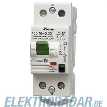 Kopp Fehlerstromschutzschalter RCD, 16A, 30mA, 2-polig 7516.2801.4