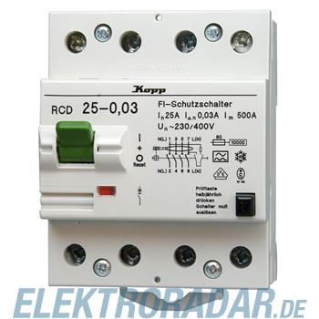 Kopp Fehlerstromschutzschalter RCD, 25A, 30mA, 4-polig 7525.4801.6