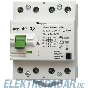Kopp Fehlerstromschutzschalter RCD, 40A, 300mA, 4-polig 7540.4301.8
