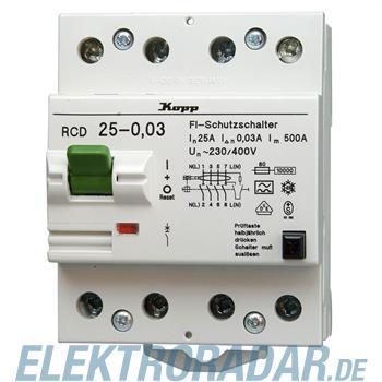Kopp Fehlerstromschutzschalter RCD, 40A, 500mA, 4-polig 7540.4501.0