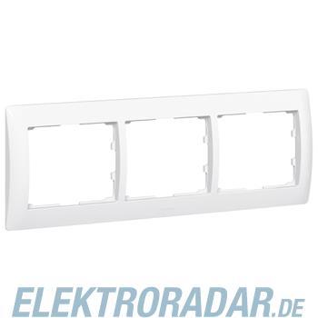 Legrand 761003 Rahmen 3-fach waagerecht Galea ultraweiss antibakt