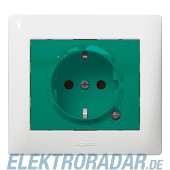 Legrand 771044 Steckdose (SK) Kinderschutz beleuchtet Galea grün
