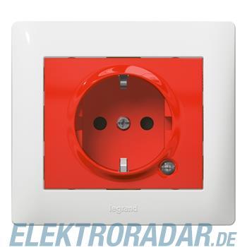 Legrand 771046 Steckdose (SK) Kinderschutz beleuchtet Galea rot