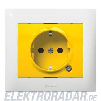 Legrand 771047 Steckdose (SK) Kinderschutz beleuchtet Galea gelb