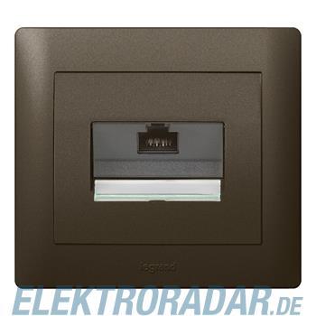 Legrand 771275 Abdeckung VDI 30°, flach, RJ45, mit Beschriftungst