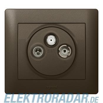 Legrand 771289 Abdeckung Antennen-Steckdose 3-Loch Galea  dark br