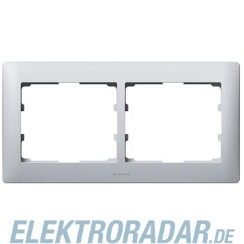 Legrand 771302 Rahmen 2-fach waagerecht Galea soft aluminium