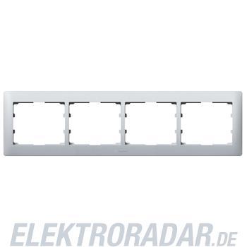 Legrand 771304 Rahmen 4-fach waagerecht Galea soft aluminium