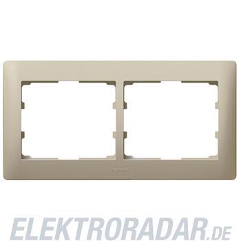 Legrand 771402 Rahmen 2-fach waagerecht Galea titanium