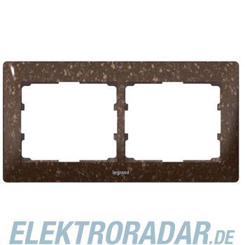 Legrand 771702 Rahmen 2-fach waagerecht Galea Corian® Cocoa Brown